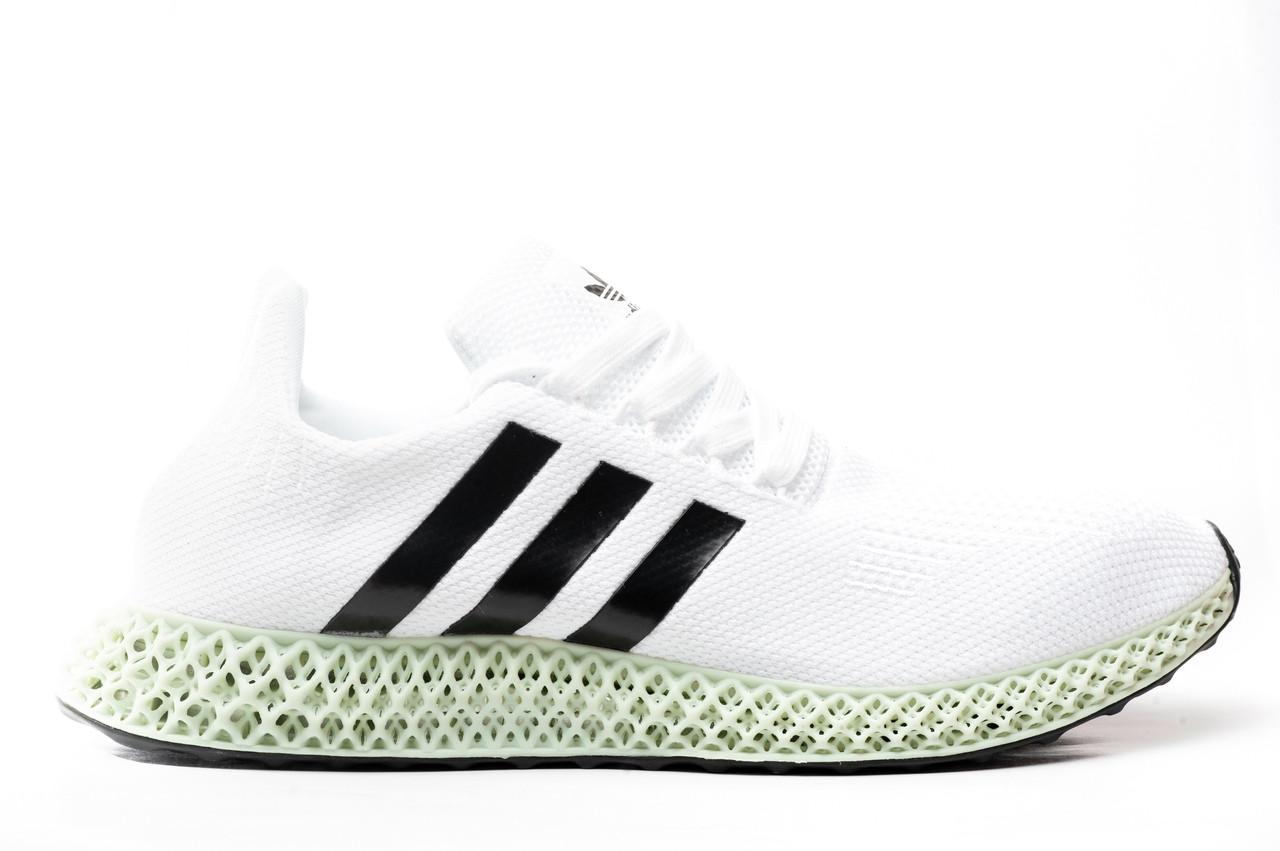pretty nice b7f99 82ffe Мужские кроссовки Adidas × Daniel Arsham Future Runner 4D (в стиле Адидас)  белые, текстиль