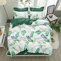 Комплект постельного белья Зеленая листва (полуторный) Berni
