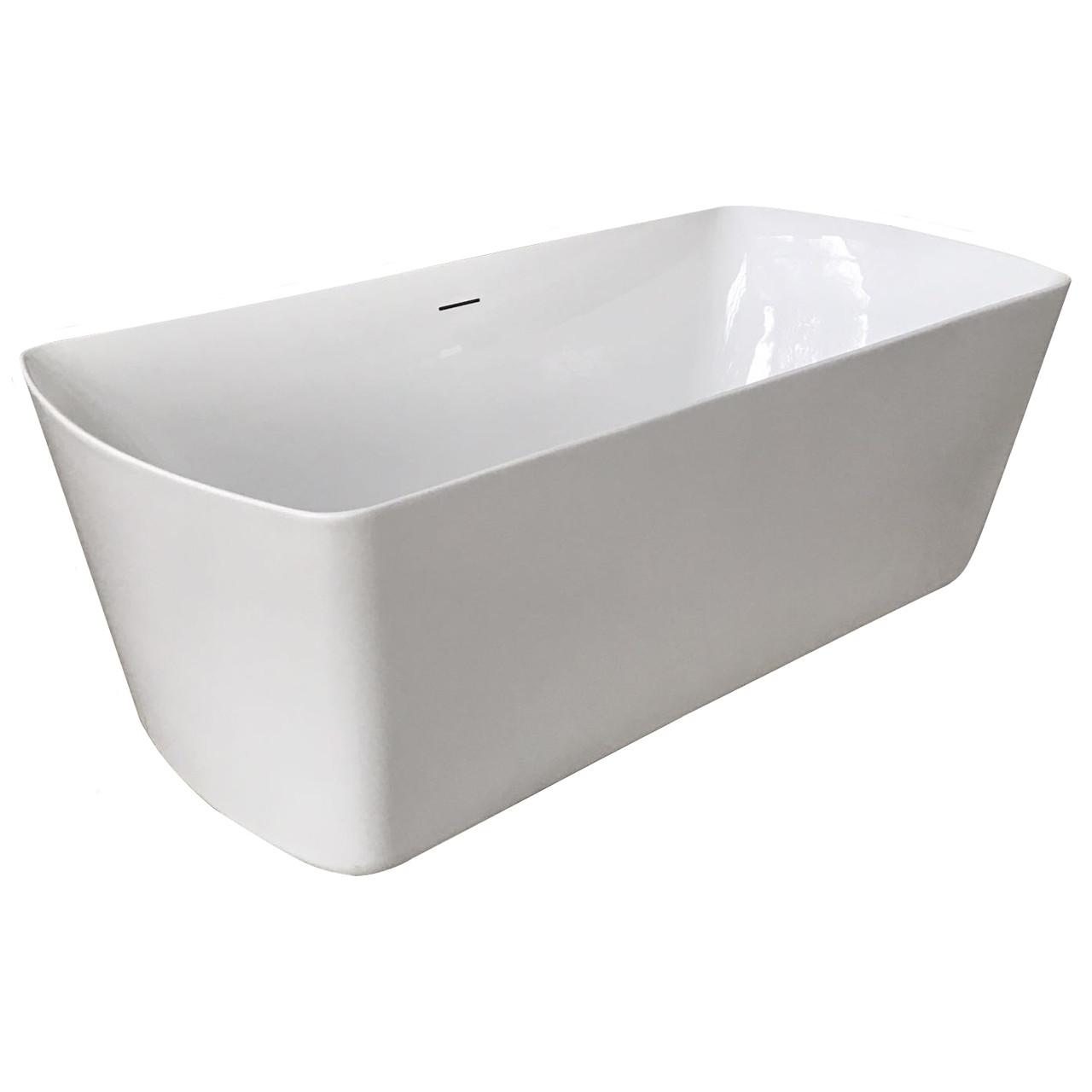 Ванна акриловая отдельностоящая Volle 180х85х61 с сифоном