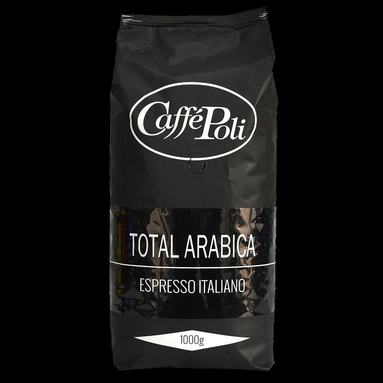 Кава в зернах Caffe Poli Total Arabiсa 1кг 100% Arabiсa
