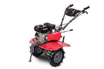 Бензиновый мотоблок BIZON 900 LUX (красный цвет)