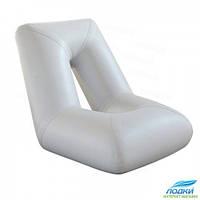 Надувное кресло лодки Колибри  св. серое