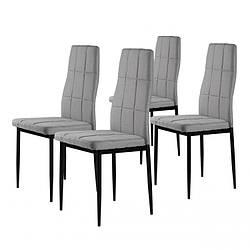 Набор из 4 стульев для кухни и бара GoodHome DC860 серый (8008-4)