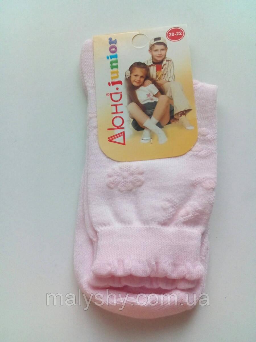 Детские носки ЛЕТНИЕ - Дюна р.20-22 (шкарпетки дитячі) 4в457-светло-розовый