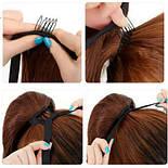 Накладной хвост из славянских волос 70 см, 100 грамм. Цвет #01 Черный, фото 3