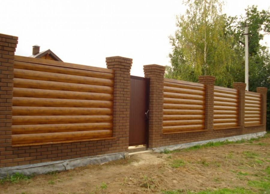 Забор из блокхауса высота-1.5 м