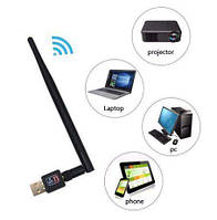 Wi-Fi адаптер антенна USB Pix-Link LV-UW10 + CD 600 Mbps Подходит для тюнеров T2
