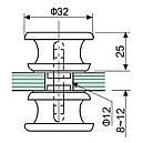 Ручка на душ HDL-691 РУЧКА КНОБ для душевой кабины (нержавейка), фото 2