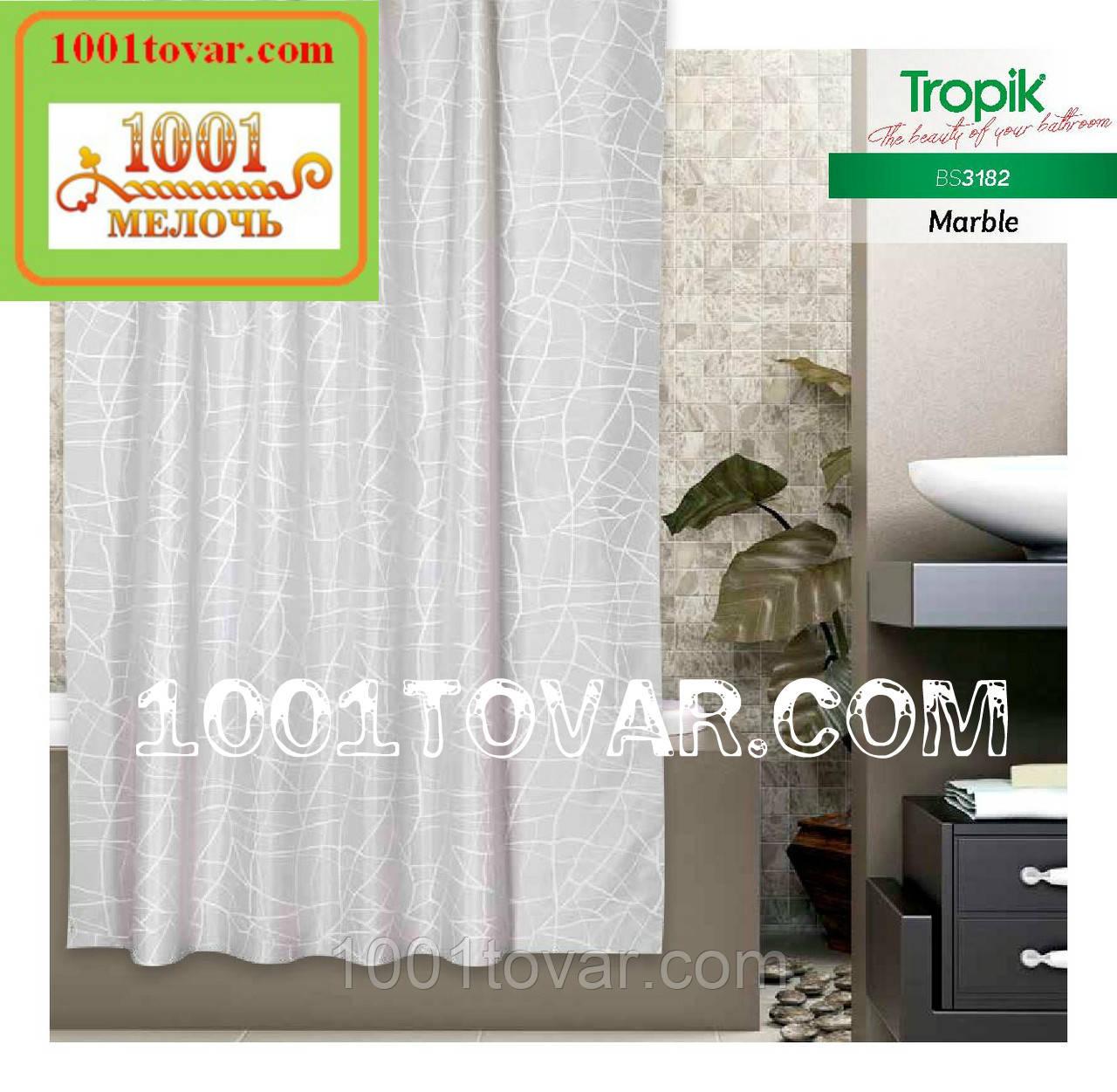 """Тканинна шторка для ванної кімнати з поліестеру """"Marble"""" Tropik, розмір 2х120х200 див., Туреччина"""