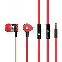 Наушники Oklick HS-S-210 вкладыши, с микрофоном, красный, фото 2