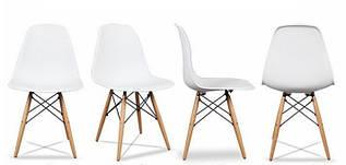 Набор из 4 стульев для кухни и бара GoodHome PC-005 белый (8007-4)