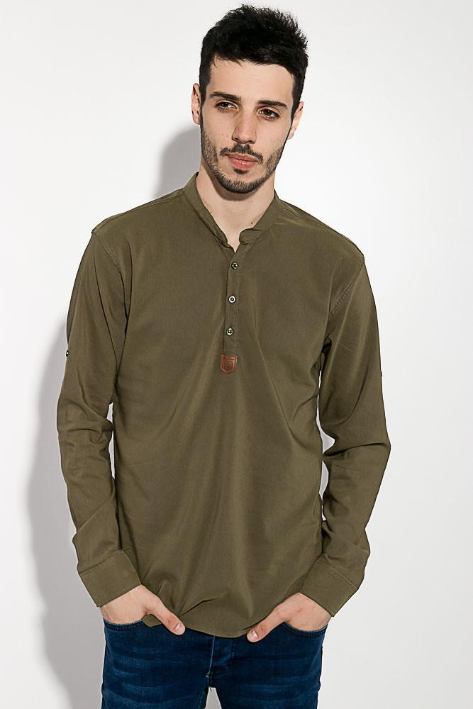 Рубашка мужская однотонная 511F005-5 (Хаки)