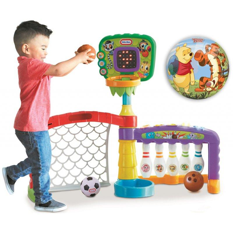 Интерактивный спортивный центр Little Tikes 3 в 1 ( баскетбол, боулинг, футбол)