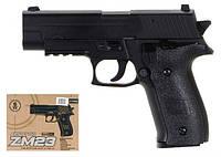 Игрушечный пистолет ZM23 с пульками . Детское оружие с металлическим корпусом
