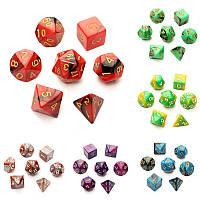 7pc / комплект TRPG игры игровые Обломки d4-d20 многогранной Кубики 6color - 1TopShop