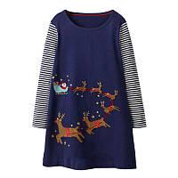 Платье для девочки Сани Санта Клауса Jumping Meters
