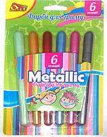 Краски для лица (аквагрим) , ТМ Olli, Металлик, 6 цветов, фото 1
