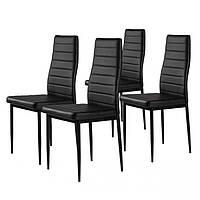 Набор из 4 стульев для кухни и бара GoodHome DC855/F261B черный (8003)