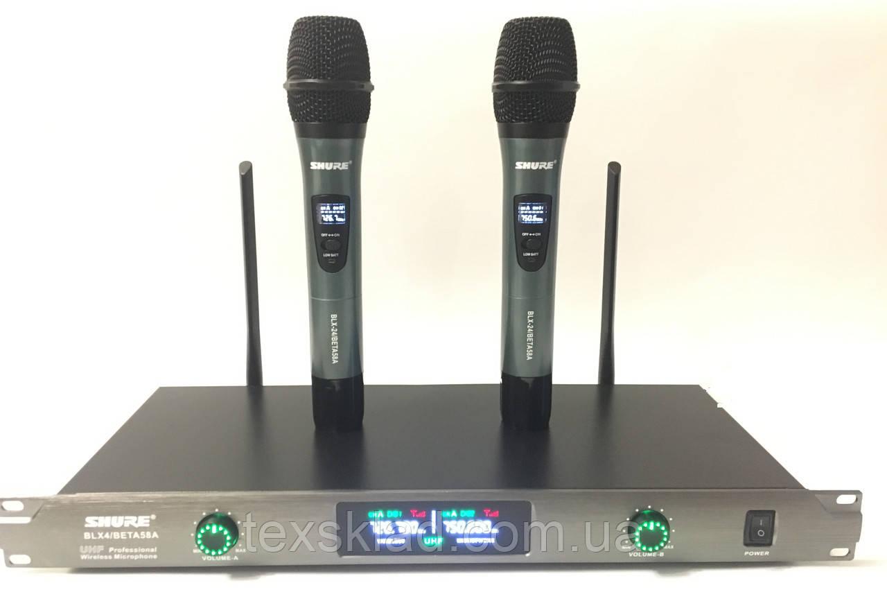 Беспроводные микрофоны Shure BLX4/Beta58A