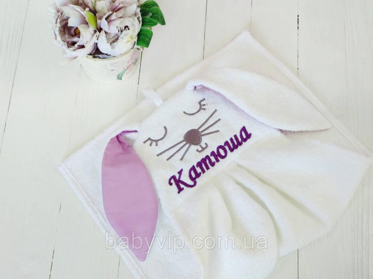 Детское полотенце для рук зайка