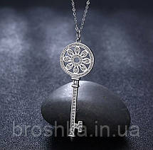 Кулон ключ Tiffany на цепочке ювелирная бижутерия, фото 2