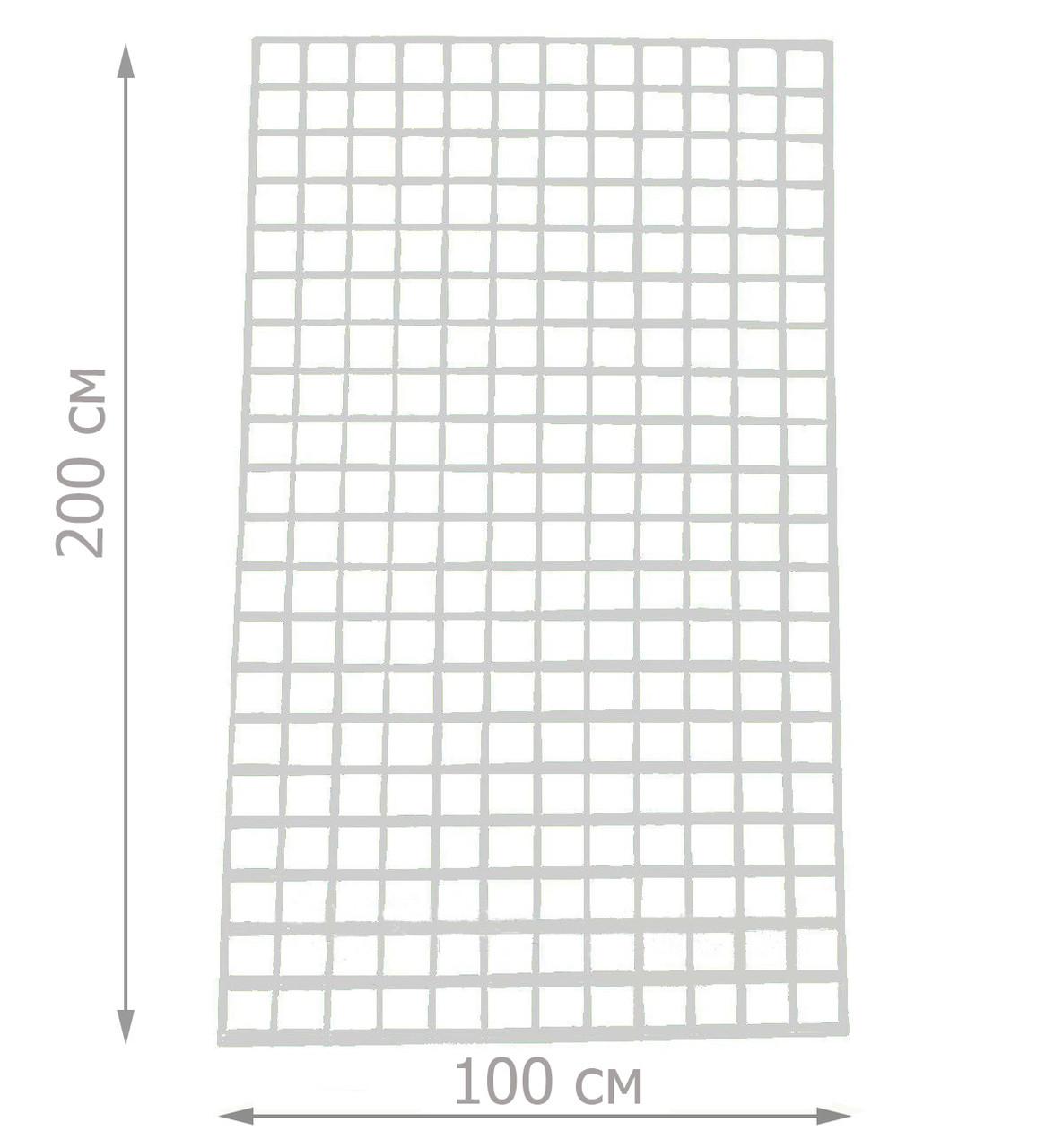 Торговая сетка решётка 200/100см ячейка 5/5см