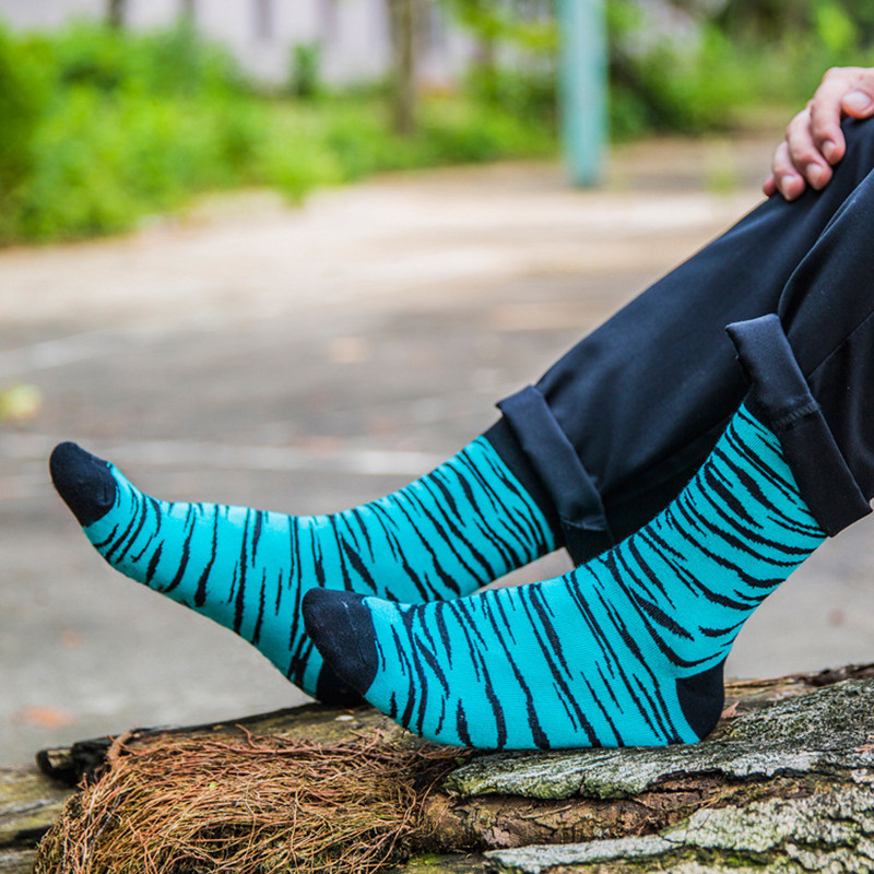 МужскаяполосатаяхлопокТрубкаНоскиНа открытом воздухе Дезодорация Спортивный носок - 1TopShop