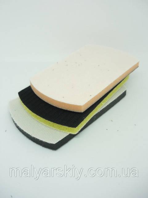 6366  Набір підкладок для ручного шліфування 3шт.(груба,середня,м'яка)   WAVE