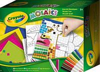 """Набор для творчества """"Забавная мозаика"""" 4 картинки с контурными квадратиками 16 фломастеров Crayola"""