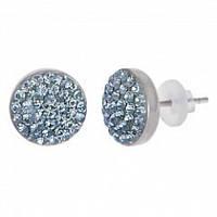 Серьги гвоздики с синими кристаллами Swarovski 102949