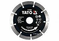 Диск отрезной алмазный по камню и бетону для мокрой и сухой резки YATO 125 x 2 x 10 x 22.2 мм