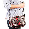 """Женская сумка кожаная BUTUN 3100-038-006 кросс-боди """"под рептилию"""" цветная, фото 6"""