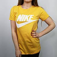 Женская футболка Nike желтого цвета, размер: S, M.