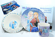 Подарочная детская посуда 5в1 холодное сердце Анна