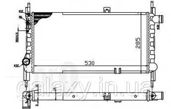 Радиатор охлаждения двигателя основной OPEL Kadett E 1.3 N/S Опель Кадетт 1984 - 1993