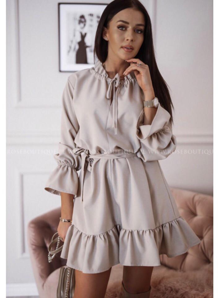 Женское  платье с воланами , женские платья
