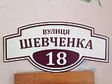 Адресні таблички, таблички на будинки 60х29 см, фото 2