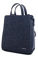 Молодежный каркасный сумка-рюкзак WeLassie 44802 со вставкой блеск, черный, фото 1