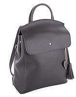Молодежный сумка-рюкзак WeLassie 44601 с подвеской сердце, серый, фото 1