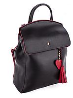 Молодежный сумка-рюкзак WeLassie 44606 с подвеской сердце, черно-красный, фото 1