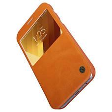 Чехол книжка Nillkin для Samsung A520F A5 (2017) Qin ser. коричневый, фото 3