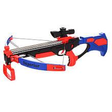 Арбалет детский спортивный с лазерным прицелом Limo Toy ZY1908B Синий (intZY1908B)
