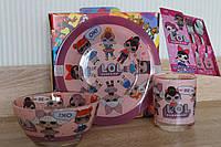Детский набор посуды с куклами ЛОЛ, фото 1