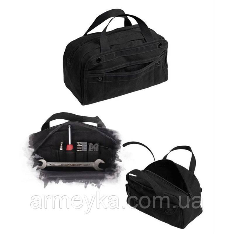 Армейская сумка для инструментов, черная. Mil-tec, Германия