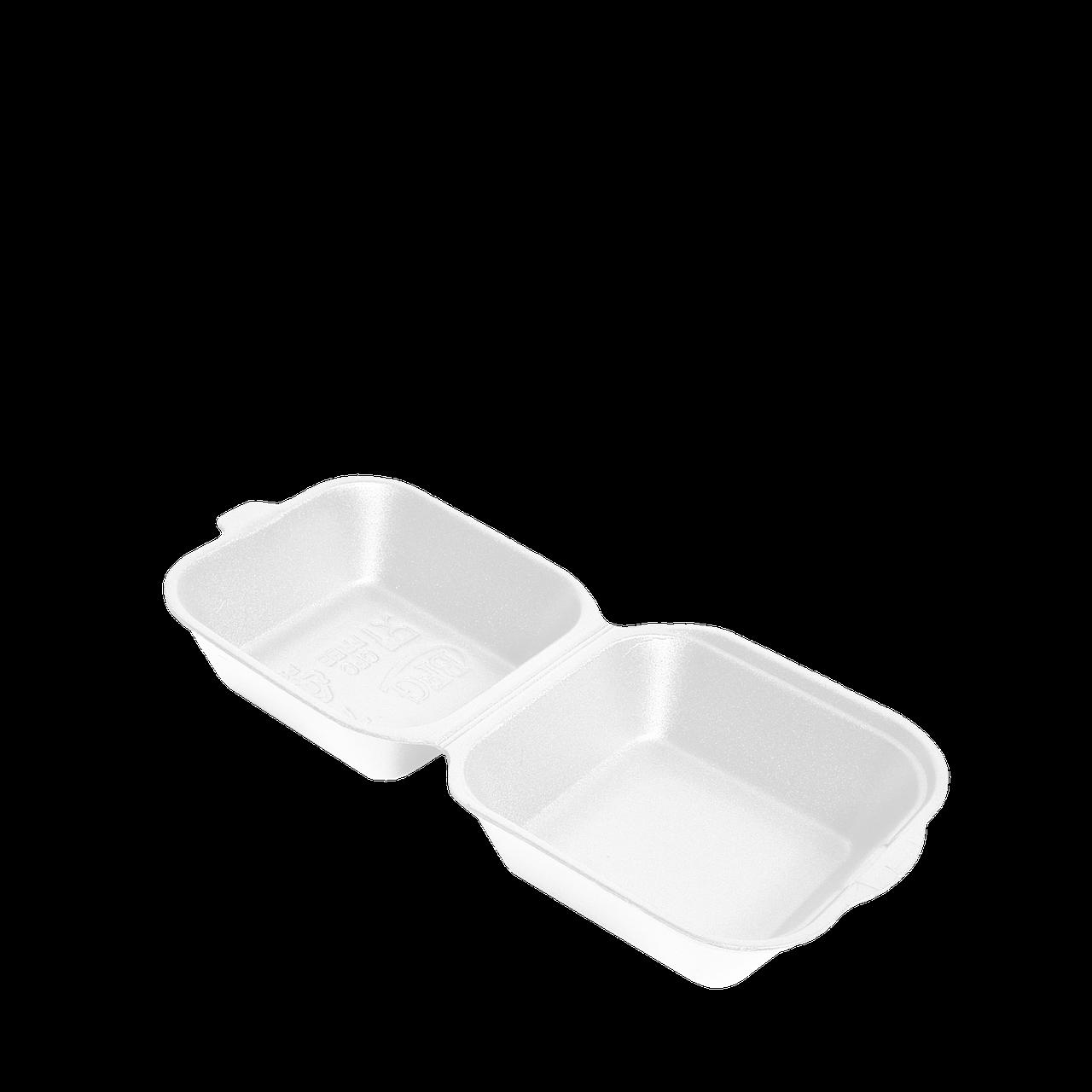 Ланч-бокс БІЛИЙ HB-6 УПАКОВКА 15шт (для сендвіча) 150x150x70