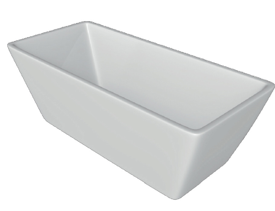 Ванная отдельностоящая акриловая Volle 170х75х60 прямоугольная с сифоном