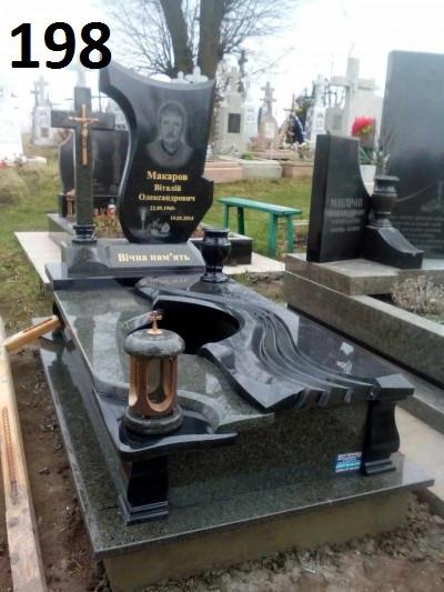 Ексклюзивний пам'ятник на могилу комплект з граніту та хрест