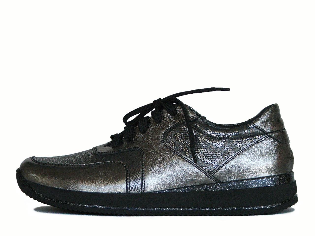 Темно-серебристые женские кроссовки
