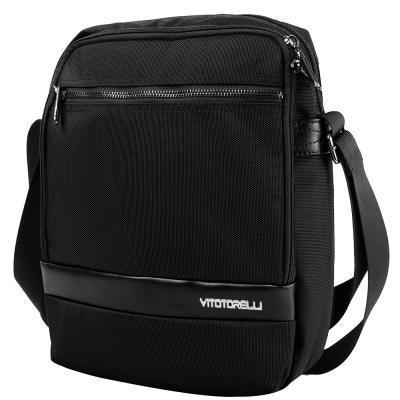 Сумка мужская через плечо  VITO TORELLI VT-K594-black, черного цвета