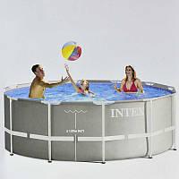 Каркасный бассейн, бассейн большой Intex 26718 366х122 см, насос, лестница, от 6-ти лет, 10685л